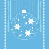 Звезды в шарике рождества Стоковая Фотография