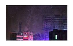 Звезды & городская жизнь Стоковая Фотография