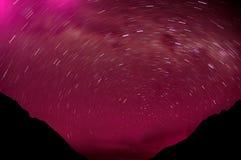 звезды гор стоковая фотография