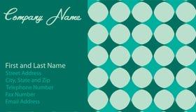 звезды зеленого цвета визитной карточки Стоковая Фотография