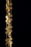 звезды золота гирлянд украшения рождества Стоковое Изображение
