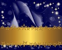 звезды золота знамени иллюстрация вектора
