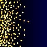 Звезды золота на голубой, желтой, яркой, праздничной предпосылке, конспекте, голубом, потехе, золоте на темноте, градиенте стоковые фото