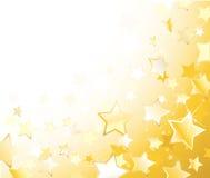 звезды золота Иллюстрация штока