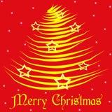 звезды золота christmans веселые Бесплатная Иллюстрация