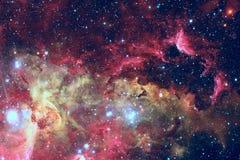 Звезды и галактика в глубоком космосе Элементы этого изображения поставленные NASA стоковые фото