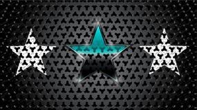 3 звезды и металлической пластины иллюстрация штока
