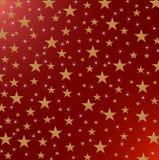 Звезды и Sparkles на красной металлической предпосылке Стоковая Фотография