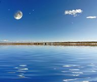 звезды луны Стоковое Изображение