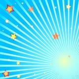 звезды лучей Стоковые Изображения
