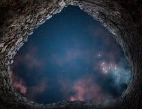 Звезды над стародедовской башней. Стоковые Фотографии RF