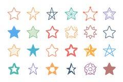 Звезды нарисованные рукой Стоковое Изображение