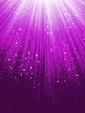 Звезды на пурпуровой striped предпосылке. EPS 8 Стоковое фото RF