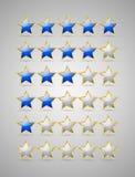 Звезды номинальности Стоковые Изображения