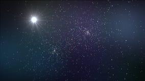 звезды ночного неба предпосылки Стоковое Изображение