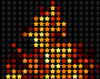 звезды пожара Стоковые Изображения RF