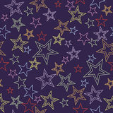 звезды предпосылки безшовные Стоковая Фотография