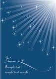 звезды предпосылки голубые Стоковые Фото