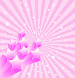 звезды предпосылки ретро иллюстрация штока