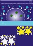 звезды предпосылки иллюстрация вектора