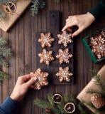 Звезды пряника рождества стоковые фотографии rf