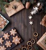 Звезды пряника рождества Стоковые Изображения
