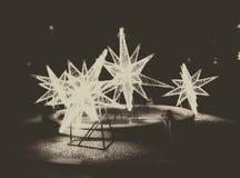 Звезды рождества в городе Стоковая Фотография