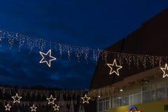 звезды рождества на торговом центре стоковая фотография