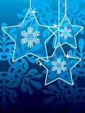 звезды рождества предпосылки иллюстрация вектора