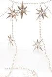 звезды рождества серебряные Стоковая Фотография RF