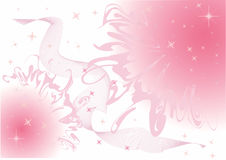звезды розового неба закоптелые Стоковое Фото