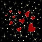 звезды сердец предпосылки безшовные Стоковые Фотографии RF