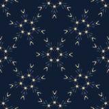 Звезды сини индиго накаляя текстурируют безшовную картину вектора Вычерченное звездное орнаментальное бесплатная иллюстрация