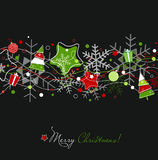звезды снежинок рождества карточки иллюстрация штока