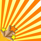 Звезды стрельбы (вектор) иллюстрация вектора