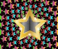 Звезды стрельбы диско светлые Стоковые Фото