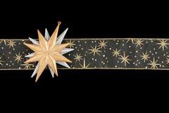 звезды тесемки золота украшения Стоковые Изображения