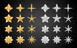 Звезды украшения 2019 рождества иллюстрация вектора