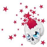 звезды черепа Стоковое фото RF
