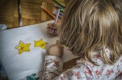Звезды чертежа ребенк Стоковое Изображение