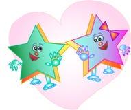 звезды шаржа Стоковые Изображения RF
