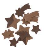 звезды шоколада Стоковые Изображения RF
