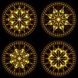 звезды 1 рождества установленные Стоковые Фотографии RF