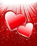 звезды 2 лучей сердец Стоковое Изображение