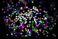 звезды confetti предпосылки Стоковое Изображение RF