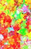 Звезды Grunge на стене Стоковое фото RF