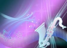 звезды saxaphone Стоковые Фотографии RF