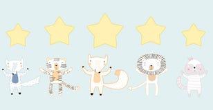 5 звезд классифицируя концепцию стиля плана бесплатная иллюстрация