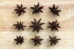9 звезд анисовки Стоковая Фотография RF