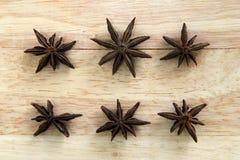 6 звезд анисовки Стоковые Изображения